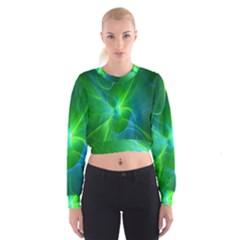 Line Green Light Women s Cropped Sweatshirt