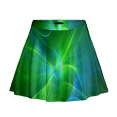 Line Green Light Mini Flare Skirt