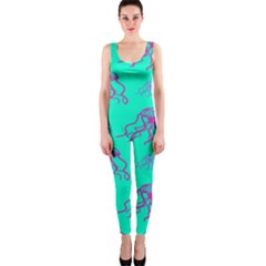 Jellyfish Pink Green Blue Tentacel OnePiece Catsuit