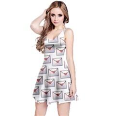 Love Note Custom Letter Heart Valentine Reversible Sleeveless Dress