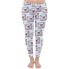 Love Note Custom Letter Heart Valentine Classic Winter Leggings