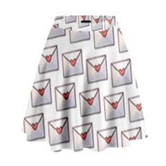 Love Note Custom Letter Heart Valentine High Waist Skirt