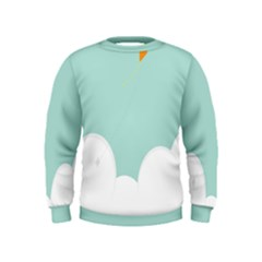 Minimalis Kite Clouds Orange Blue Sky Kids  Sweatshirt