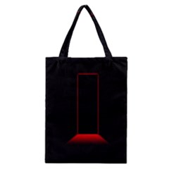 Mistery Door Light Black Red Classic Tote Bag