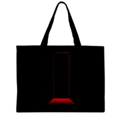 Mistery Door Light Black Red Zipper Mini Tote Bag