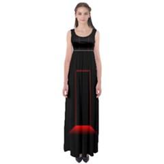 Mistery Door Light Black Red Empire Waist Maxi Dress