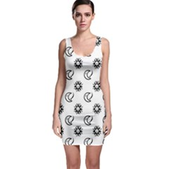 Month Moon Sun Star Sleeveless Bodycon Dress