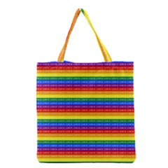 Love Valentine Rainbow Red Purple Blue Green Yellow Orange Grocery Tote Bag
