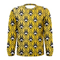 Original Honey Bee Yellow Triangle Men s Long Sleeve Tee