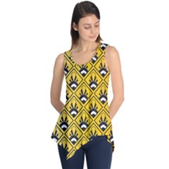 Original Honey Bee Yellow Triangle Sleeveless Tunic