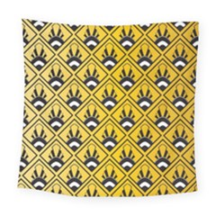 Original Honey Bee Yellow Triangle Square Tapestry (large)