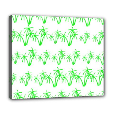 Palm Tree Coconute Green Sea Deluxe Canvas 24  x 20