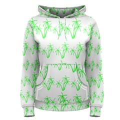 Palm Tree Coconute Green Sea Women s Pullover Hoodie