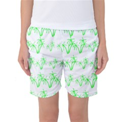 Palm Tree Coconute Green Sea Women s Basketball Shorts