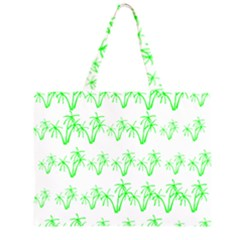 Palm Tree Coconute Green Sea Large Tote Bag