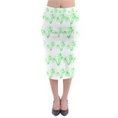 Palm Tree Coconute Green Sea Midi Pencil Skirt