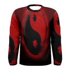 Red Black Taichi Stance Sign Men s Long Sleeve Tee
