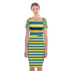 Prime Line Classic Short Sleeve Midi Dress