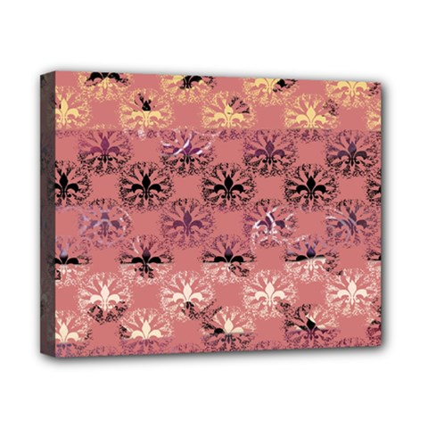 Overlays Pink Flower Floral Canvas 10  x 8