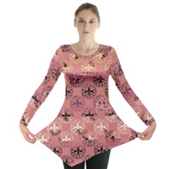 Overlays Pink Flower Floral Long Sleeve Tunic