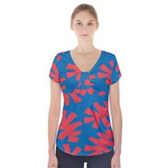 Simple Tropical Original Short Sleeve Front Detail Top