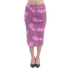 Soles Feet Pink Human Midi Pencil Skirt