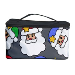 Santa Claus Face Mask Crismast Cosmetic Storage Case