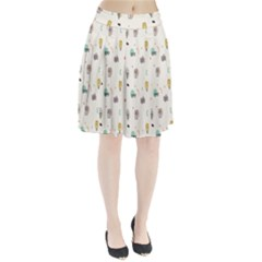 Slippers Lamp Glasses Ice Cream Grey Wave Water Pleated Skirt