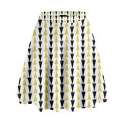 Triangle Green Black Yellow High Waist Skirt