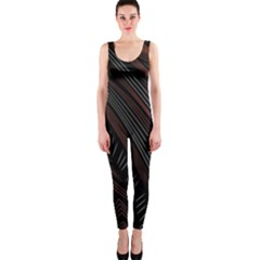 Trailer Drax Line Brown White Chevron Galaxy Space OnePiece Catsuit