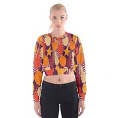 Tropical Mangis Pineapple Fruit Tailings Women s Cropped Sweatshirt