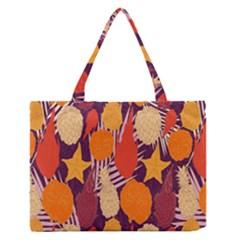 Tropical Mangis Pineapple Fruit Tailings Medium Zipper Tote Bag
