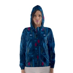 Sea World Fish Ccoral Blue Water Hooded Wind Breaker (Women)