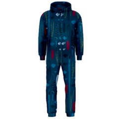 Sea World Fish Ccoral Blue Water Hooded Jumpsuit (men)