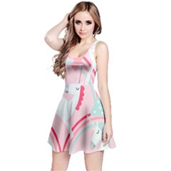 Unicorn Animals Horse Pink Rainbow Reversible Sleeveless Dress