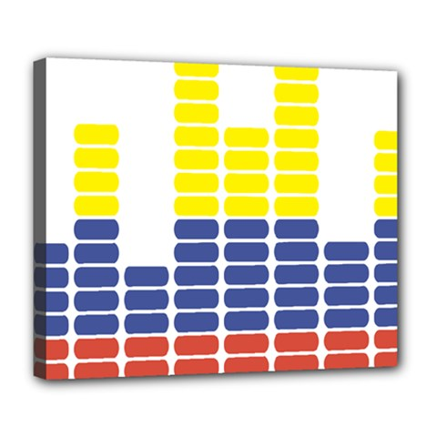 Volumbia Olume Circle Yellow Blue Red Deluxe Canvas 24  x 20