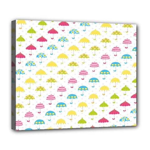 Umbrella Tellow Blue Red Pink Green Color Rain Kid Deluxe Canvas 24  x 20