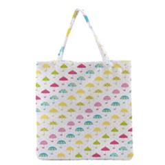 Umbrella Tellow Blue Red Pink Green Color Rain Kid Grocery Tote Bag