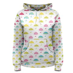Umbrella Tellow Blue Red Pink Green Color Rain Kid Women s Pullover Hoodie