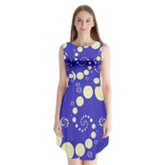 Vortical Universe Fractal Blue Sleeveless Chiffon Dress