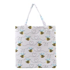 Wasp Bee Fly Yellow Black Blue Hanny Love Grocery Tote Bag