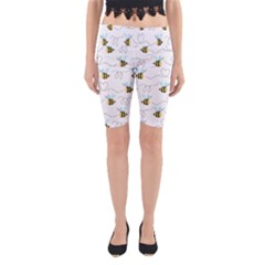 Wasp Bee Fly Yellow Black Blue Hanny Love Yoga Cropped Leggings