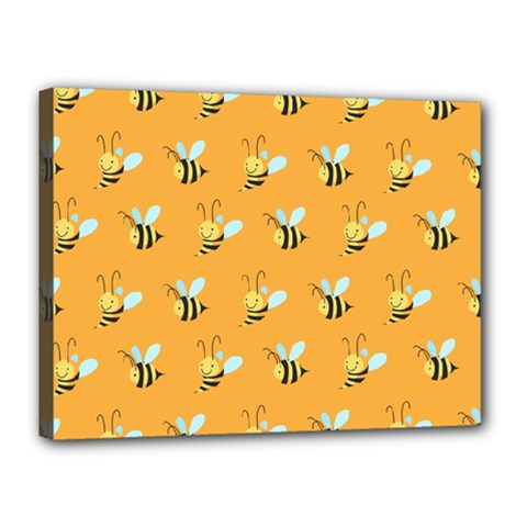 Wasp Bee Hanny Yellow Fly Animals Canvas 16  x 12