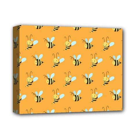Wasp Bee Hanny Yellow Fly Animals Deluxe Canvas 14  x 11