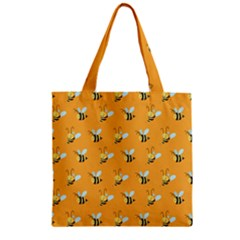 Wasp Bee Hanny Yellow Fly Animals Zipper Grocery Tote Bag