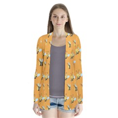 Wasp Bee Hanny Yellow Fly Animals Cardigans