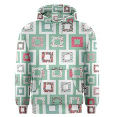Foto Frame Cats Quilt Pattern View Collection Fish Animals Men s Pullover Hoodie