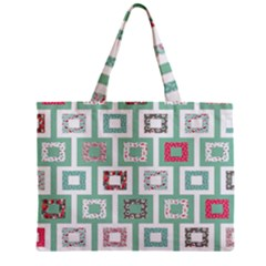 Foto Frame Cats Quilt Pattern View Collection Fish Animals Zipper Mini Tote Bag