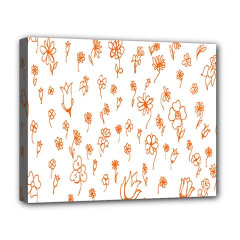 Flower Floral Tulip Orange Deluxe Canvas 20  x 16