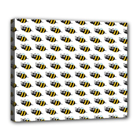 Wasp Bee Eye Fly Line Animals Deluxe Canvas 24  x 20
